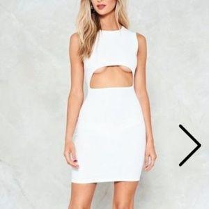 Nastygal White Bodycon Dress